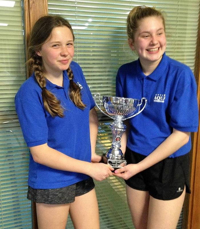 "Our Young Timekeepers at the Masters Champs with the ""Top Team"" trophy"