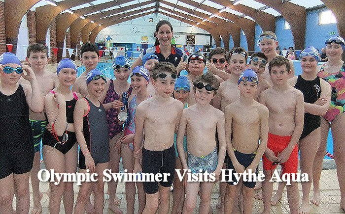 Last Tuesday Hythe Aqua Swimming Club held its annual Olympic Night at Hythe Pool with Olympian Jo Jackson in attendance.