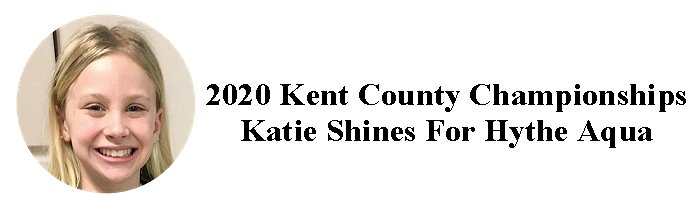 2020 Kent County Championships – Katie Shines for Hythe Aqua