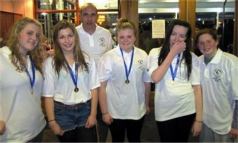 Hythe Aqua Girls in winning Kent County Water Polo Team