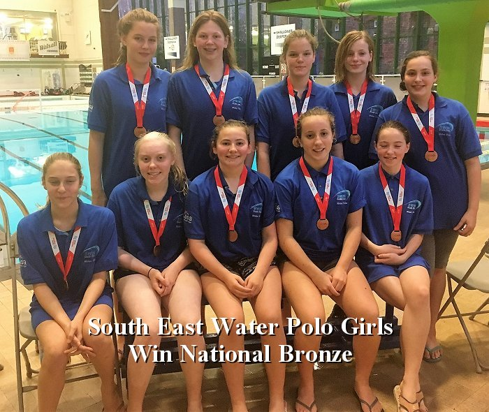 South East Water Polo Girls Win National Bronze